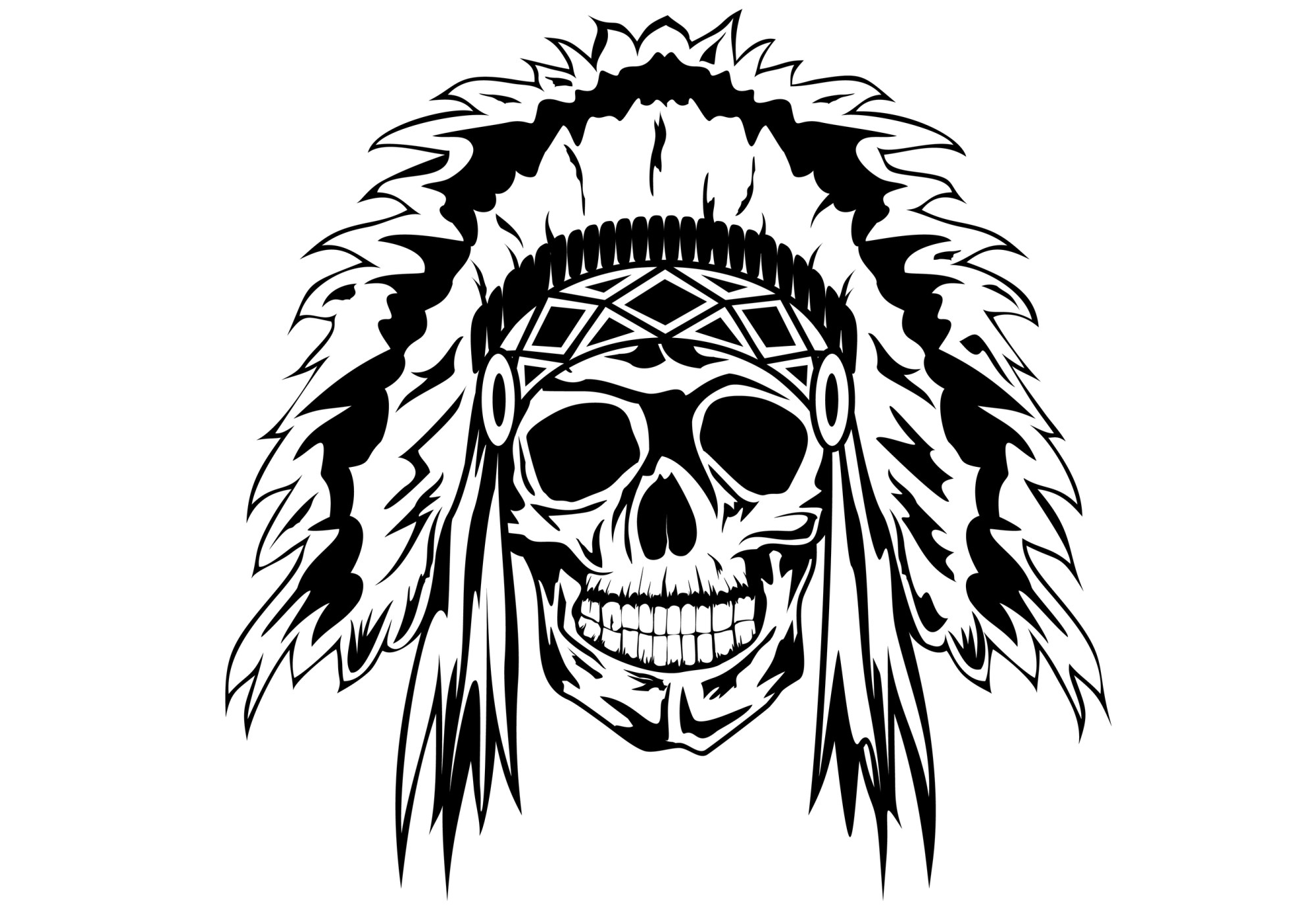 hight resolution of dead indian chief tattoo jpg