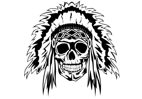 small resolution of dead indian chief tattoo jpg