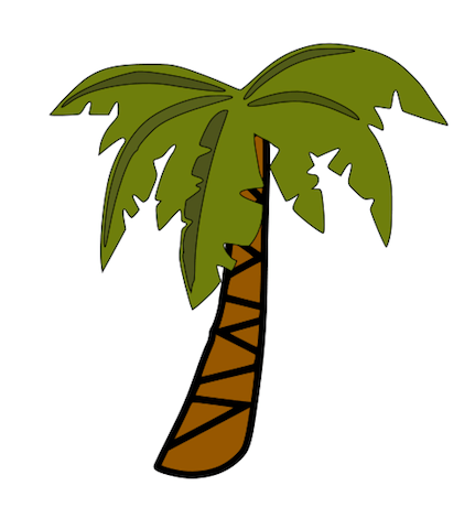 clip art banana tree