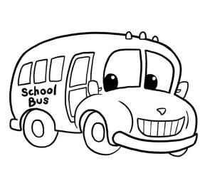 School bus clipart free black and white