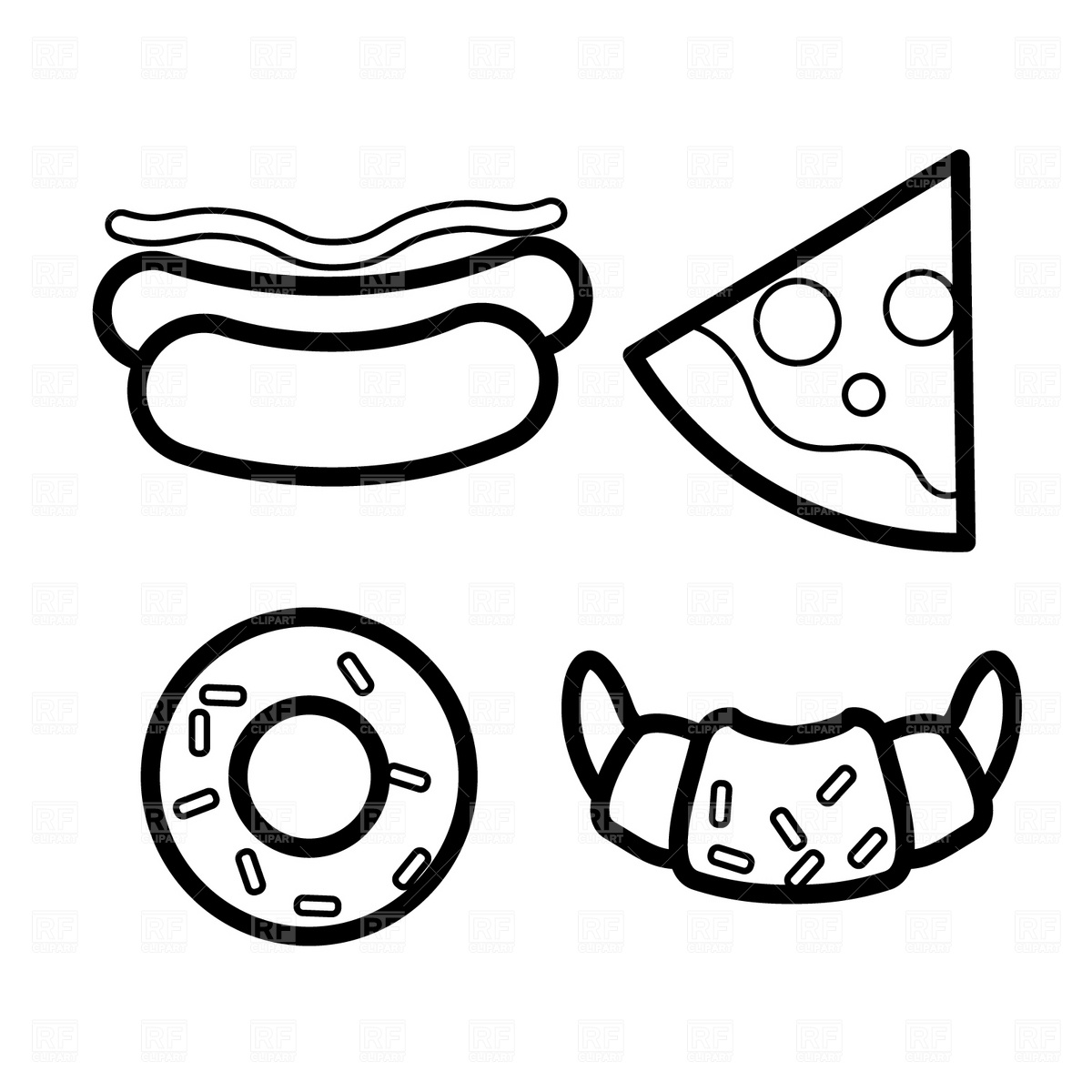 Big Donut Clipart Black And White