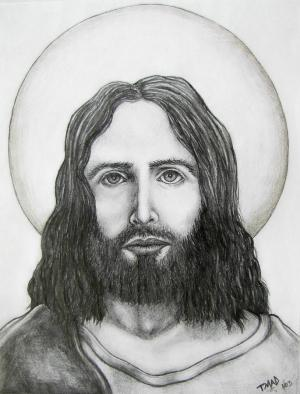 jesus christ drawing michael tmad finney amazing sketch drawings pencil realistic cliparts attribution forget link don 4th uploaded 2009 which