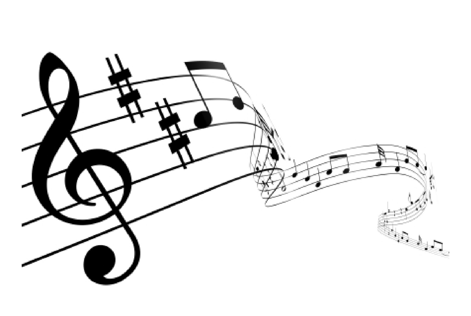 Wavy Music Staff
