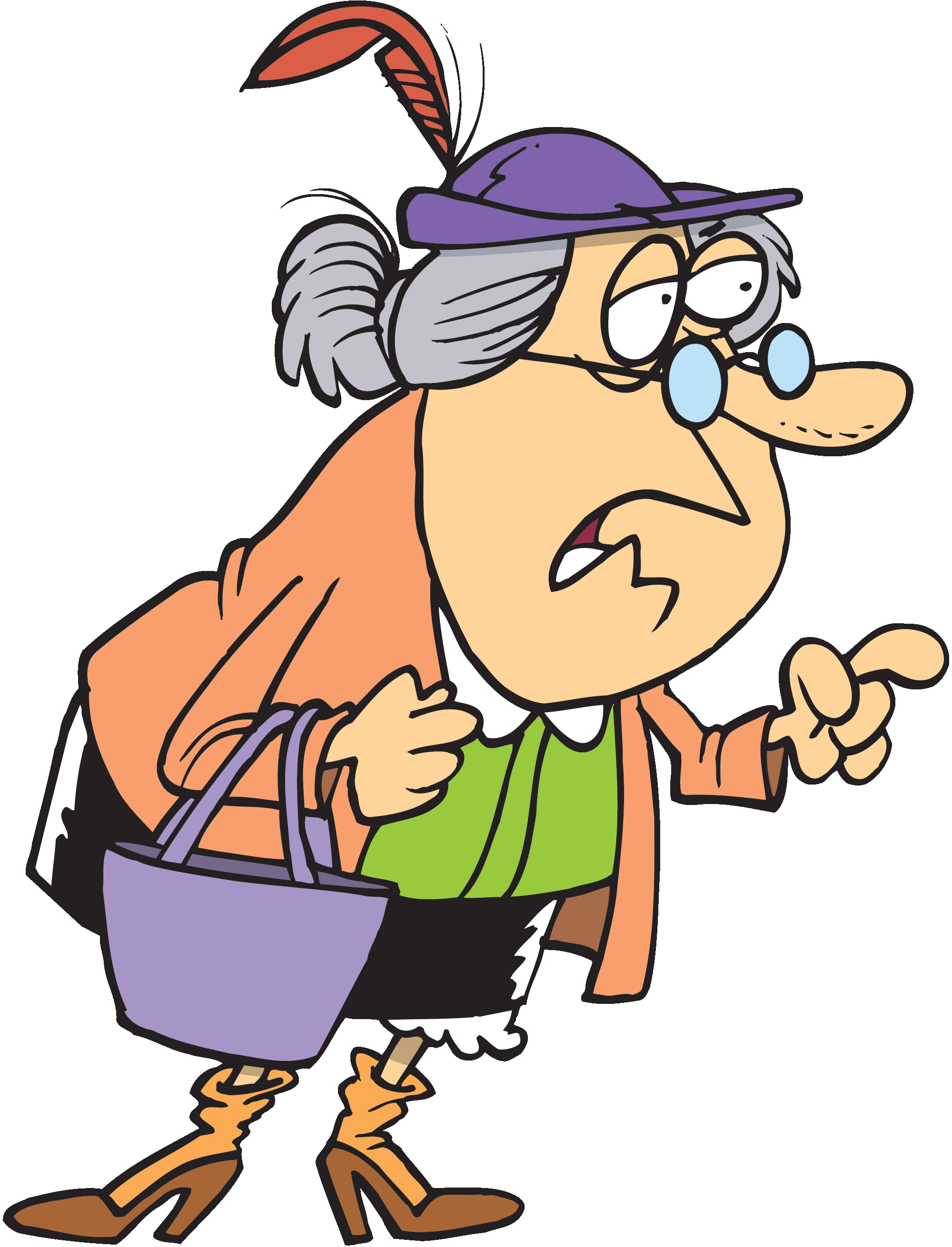 Images For > Nice Old Lady Cartoon