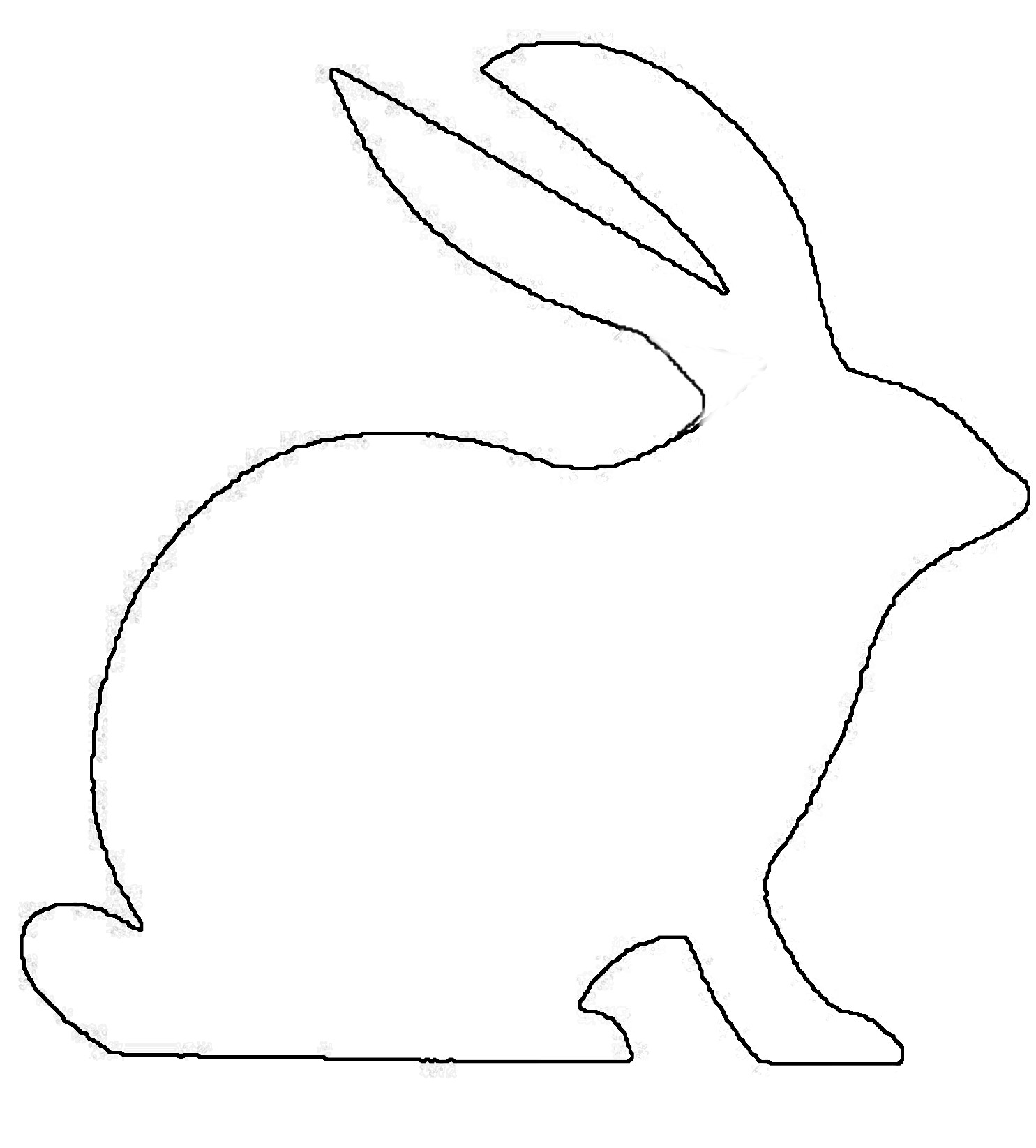 Outline Of A Bunny