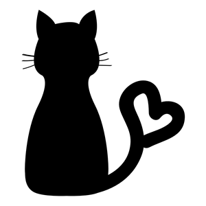 Download Cat Heart Tail clipart, cliparts of Cat Heart Tail free ...