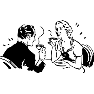coffee couple clipart, cliparts of coffee couple free