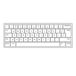 Keyboard ABNT2 Pt Br clipart, cliparts of Keyboard ABNT2
