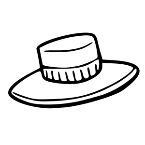 hat outline clipart, cliparts of hat outline free download