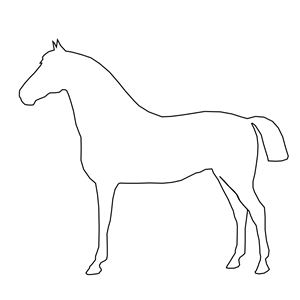 Simple Horse clipart, cliparts of Simple Horse free