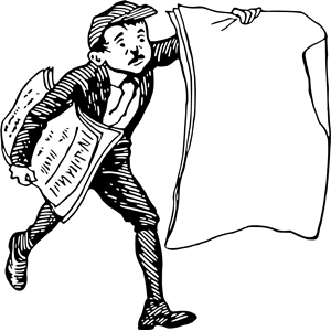 Paper boy 2 clipart, cliparts of Paper boy 2 free download