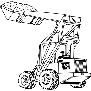 Tractor loader 3 clipart, cliparts of Tractor loader 3