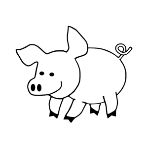Pig Stamp clipart, cliparts of Pig Stamp free download