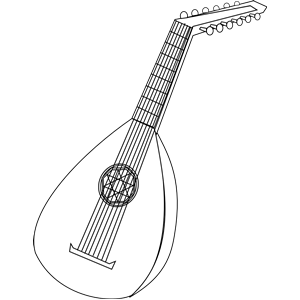 lute 1 clipart, cliparts of lute 1 free download (wmf, eps