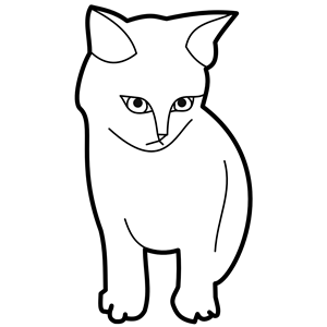 sitting cat outline clipart, cliparts of sitting cat
