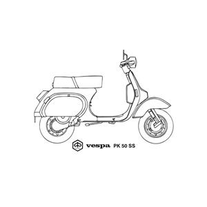 Piaggio Vespa PK 50 Super Sprint scooter, year 1983