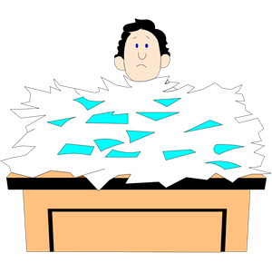 busy-desk clipart cliparts of