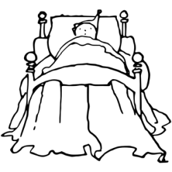 Child in bed clipart cliparts of Child in bed free download wmf eps emf svg png gif formats