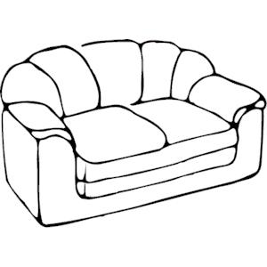 Sofa clipart, cliparts of Sofa free download (wmf, eps