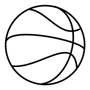 Coloring Book Basketball clipart, cliparts of Coloring