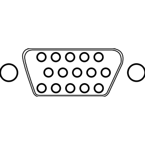 VGA Connector with 15 Poles / Pins clipart, cliparts of