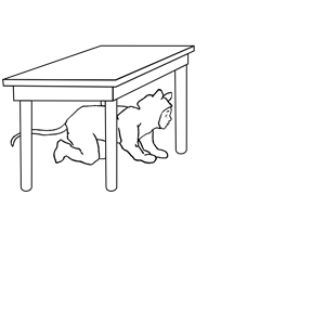 Kid Under Table clipart, cliparts of Kid Under Table free