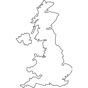 United Kingdom Outline clipart, cliparts of United Kingdom