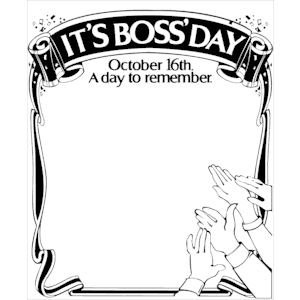 Boss'' Day Frame 1 clipart, cliparts of Boss'' Day Frame 1