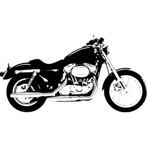 Harley Davidson Sportster clipart, cliparts of Harley