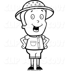 boy safari clipart standing hips hands cory thoman scout holding