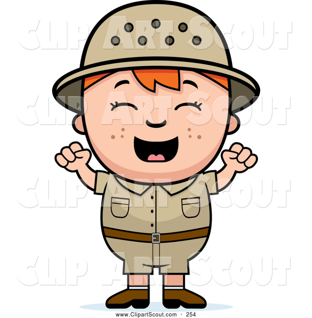 medium resolution of clipart of a cute and happy red haired safari boy cheering