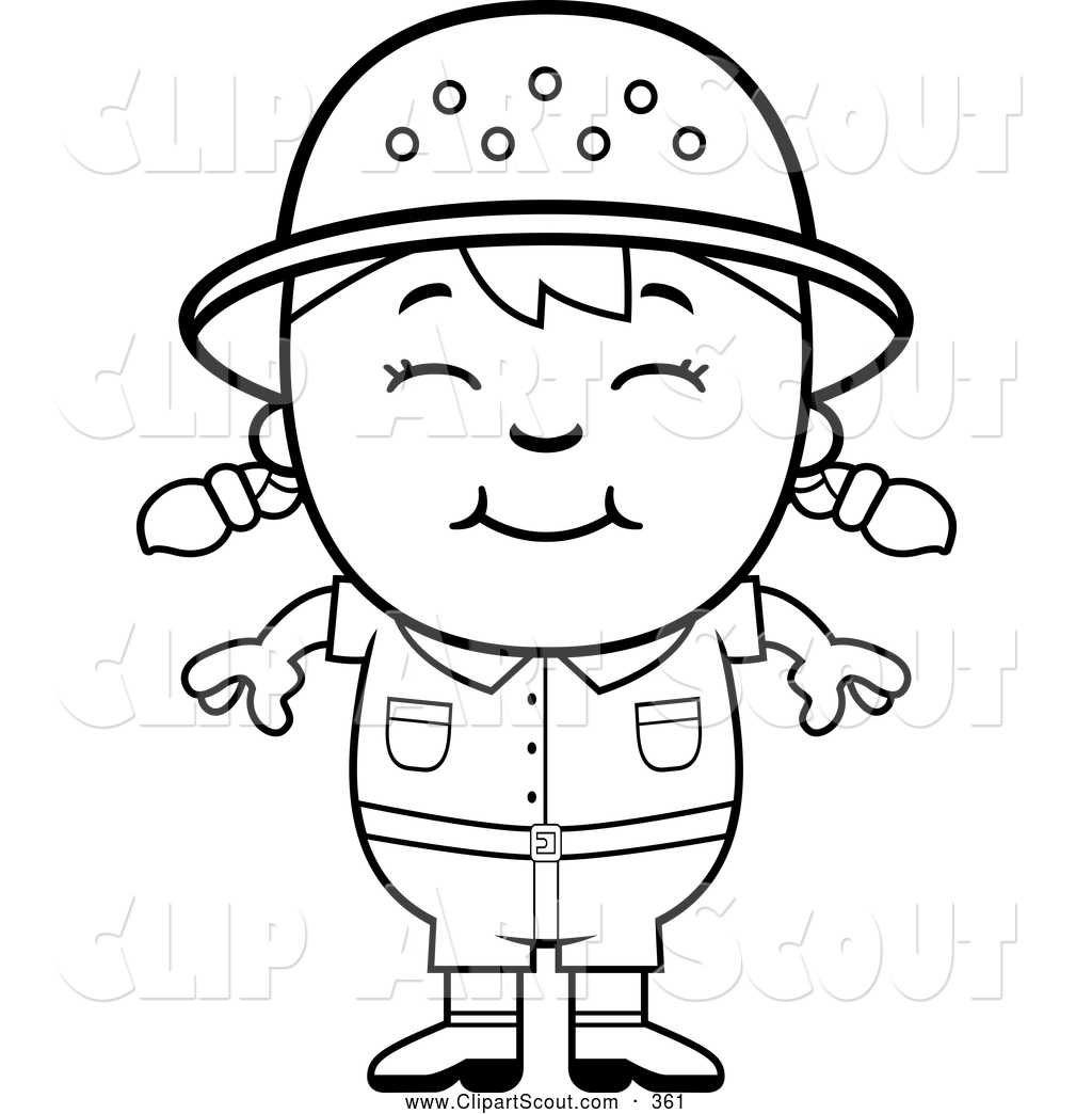 Royalty Free Stock Scout Designs Of Coloring Pages