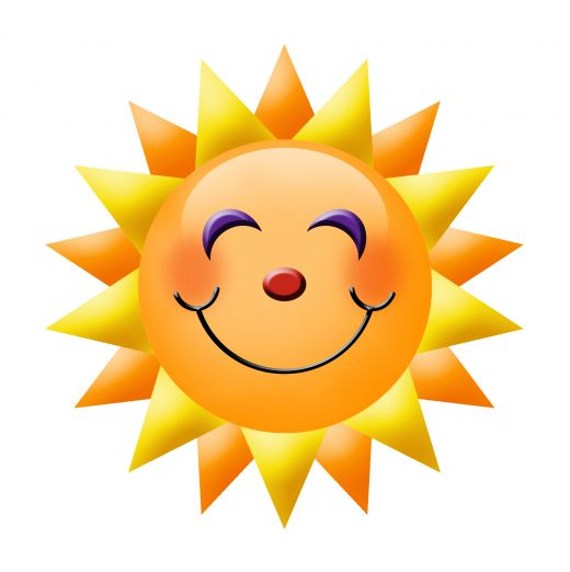 sunshine smiley face clipart