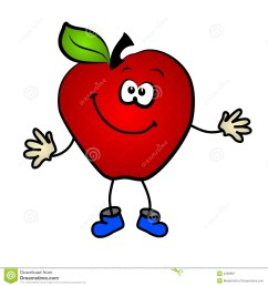 smiling apple cartoon clip art royalty free stock photography [ 1300 x 1390 Pixel ]