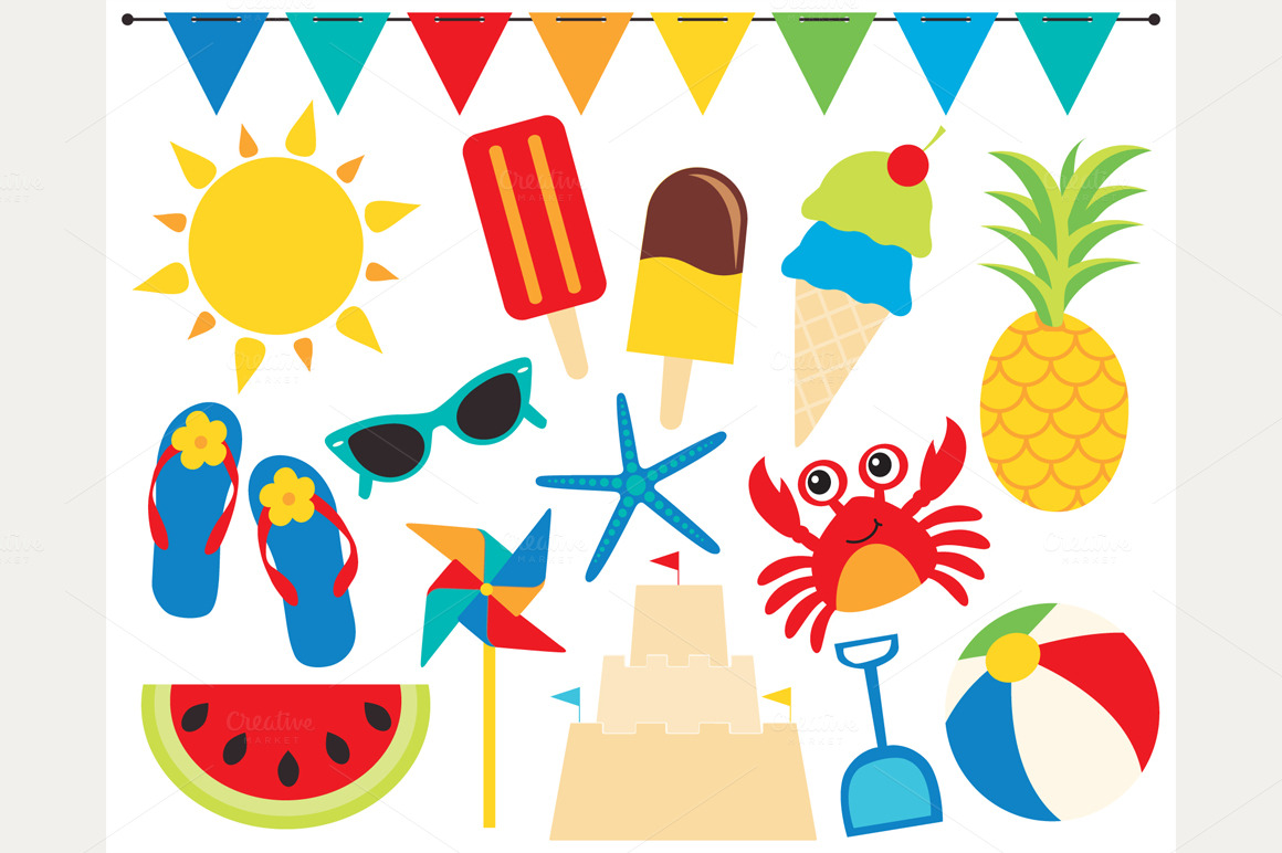 hight resolution of beach ball clipart products creative market 2