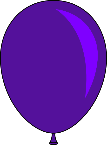 balloon purple clip art free stock