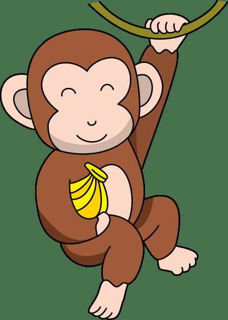 monkey clip art vector