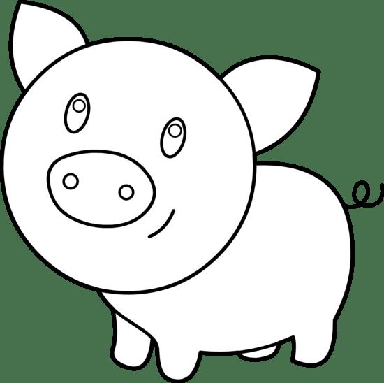 Pig outline clip art clipart image #1794
