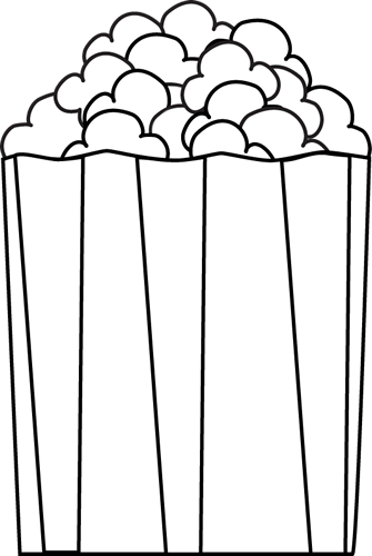 Popcorn border writing paper free clipart images image 4616