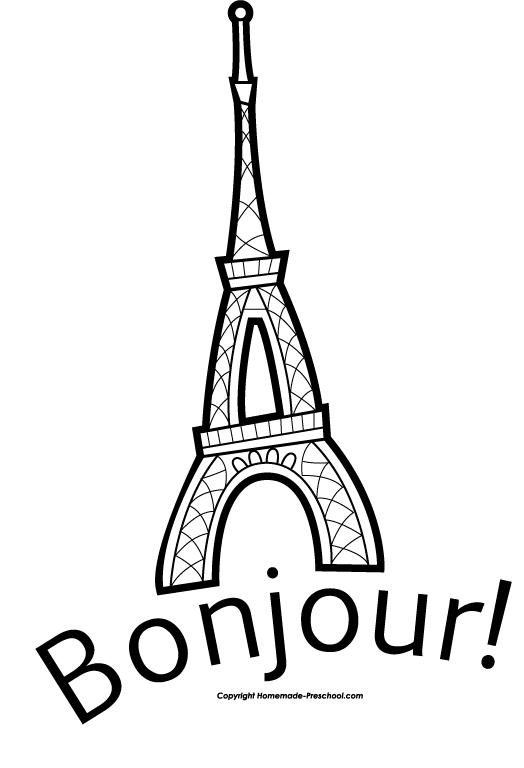 eiffel tower line drawing clipart