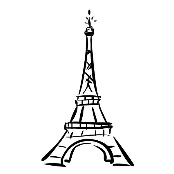 How to draw the eiffel tower clipart image #5186