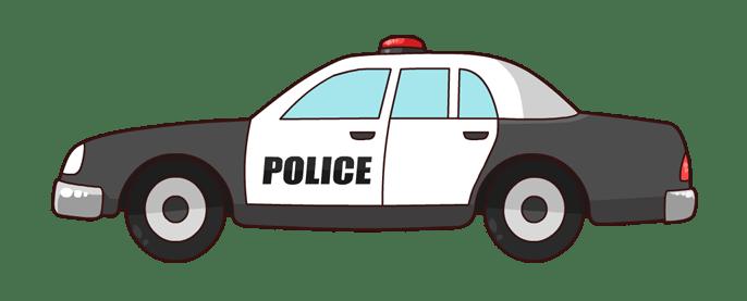Police car clip art 2 image #7350