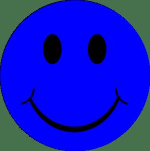 happy face blue smiley clip