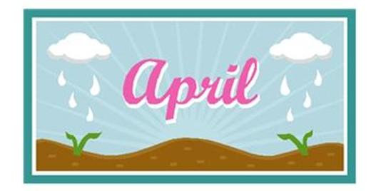 calendar april month sign classroom
