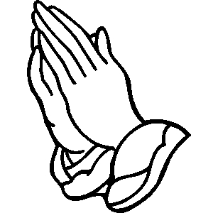 Praying hand clipart clipart image #11275