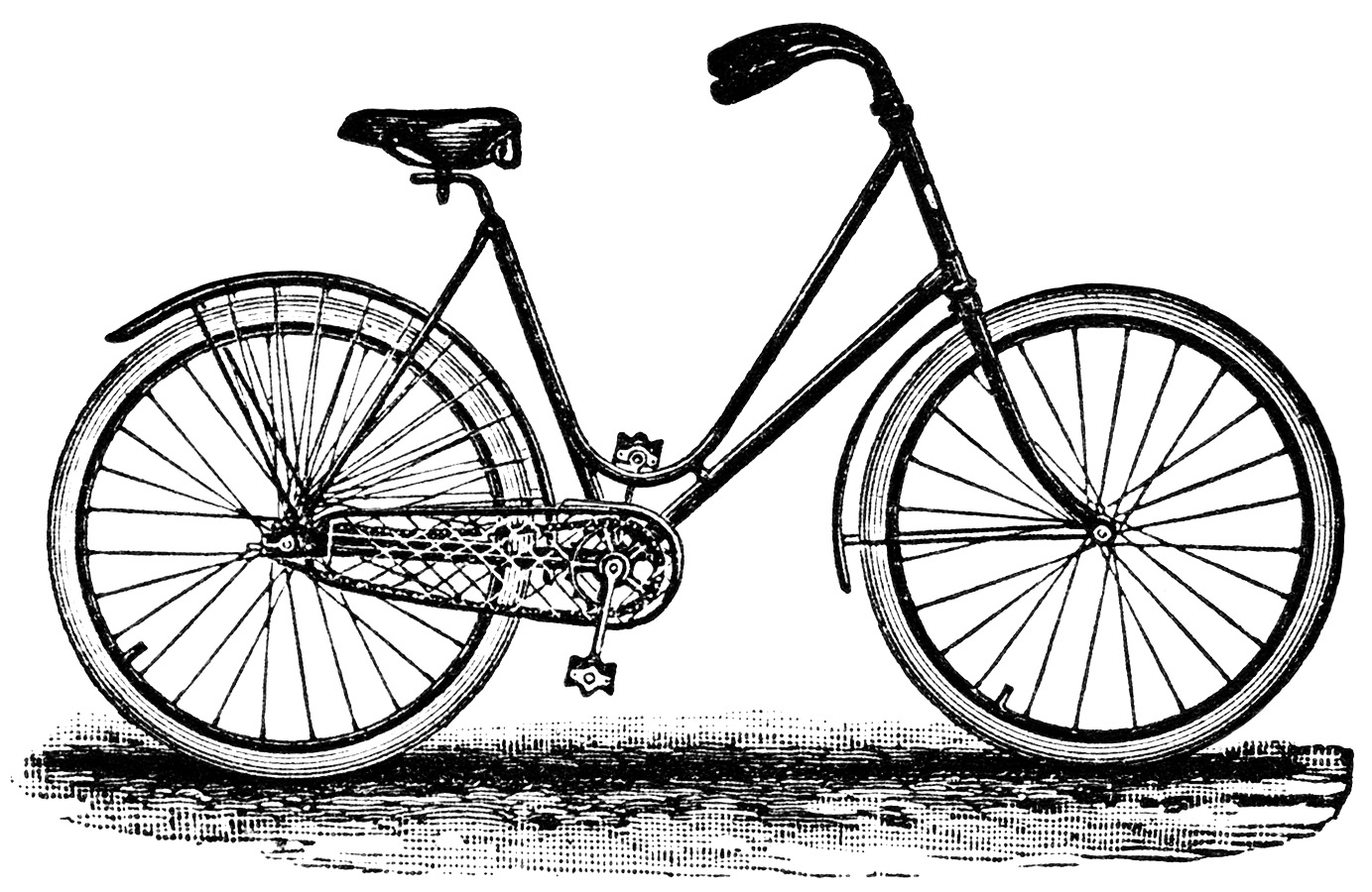 Bicycle With Basket Clip Artbdpd9