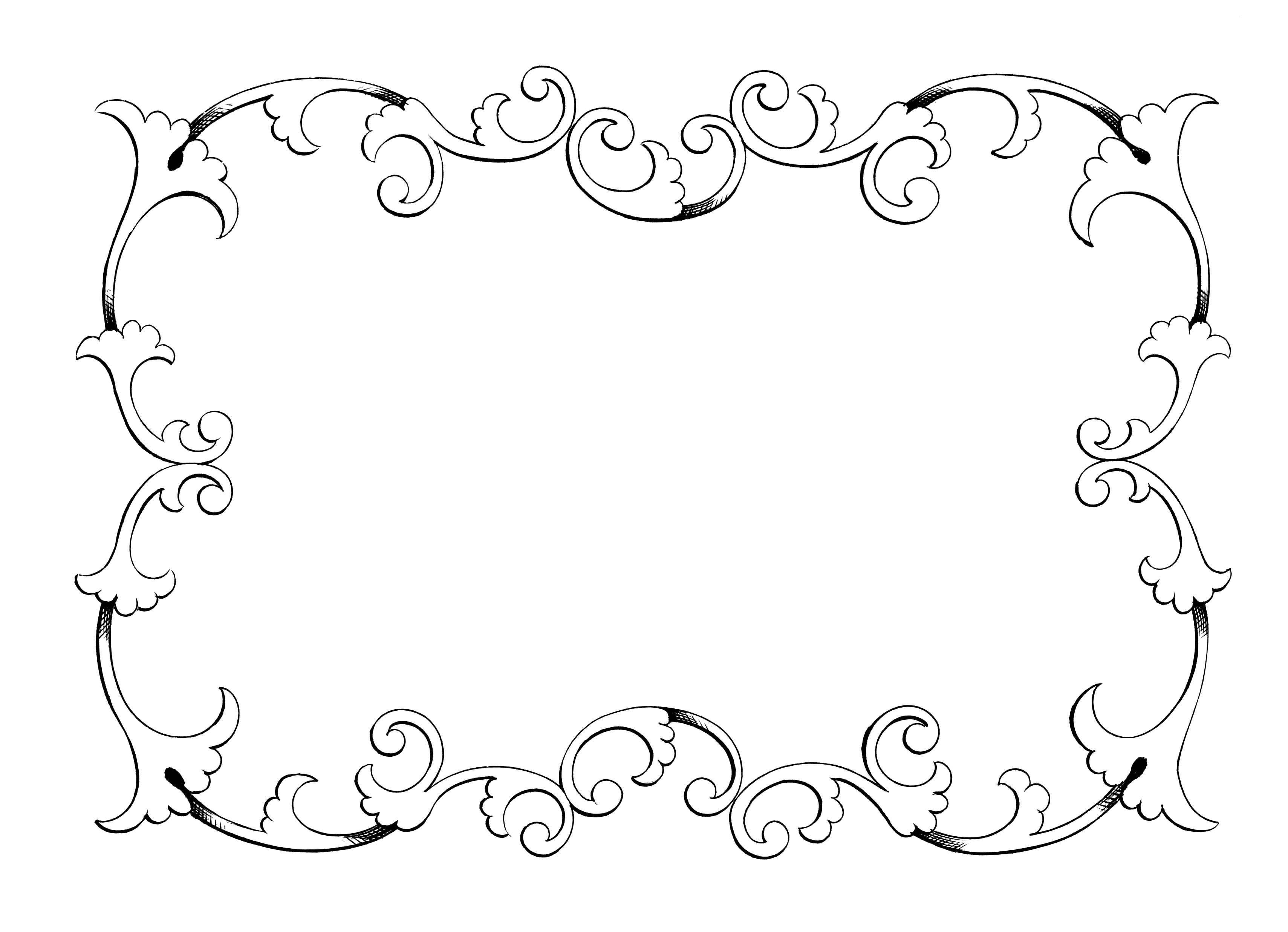 Clip Art Frame Border Freebie Oh So Nifty Vintage Graphics