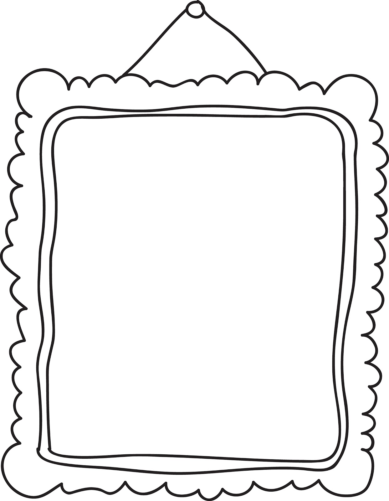 Full Page Double Bracket Frame Free Clip Art Frames Image