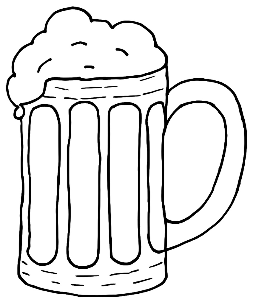 Tilted glass of beer clip art at vector clip art image #12401