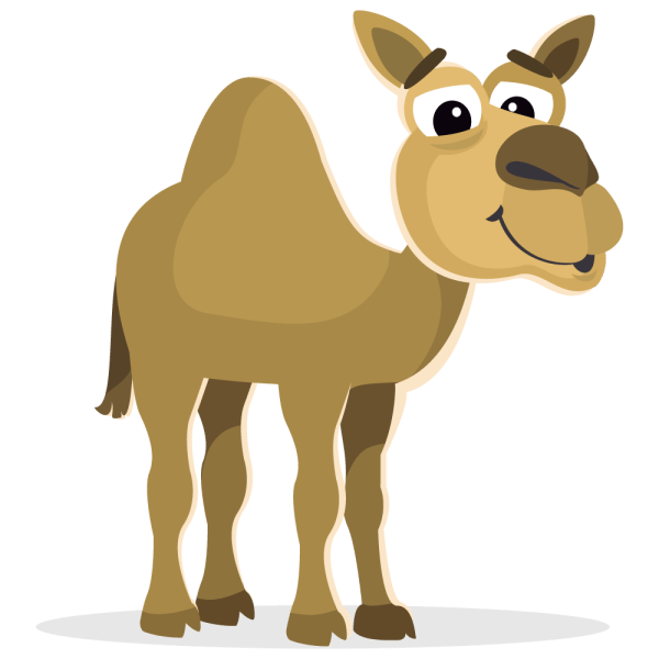 camel cartoon clipart 3 height